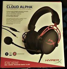 More details for hyperx cloud alpha gaming headset headphones - black & red