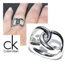 CALVIN KLEIN Bague en acier inoxydable motif boucle T 54 bijou ring