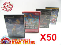 50X PS2 XBOX Wii Wii U GAMECUBE CLEAR PROTECTIVE BOX PROTECTORS - FREE SHIPPING!