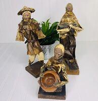 Roy Wilson Paper Mache Statues Folk Art Lot of 3