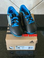 Adidas Conquisto FG 3 Boys Sz 13K Black Blue White Soccer Cleats B25593