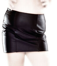 Ledapol 5587 echt Leder Rock Minirock Zipper hinten Leather Skirt 44 SCHWARZ