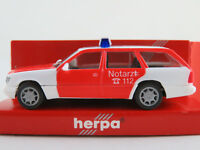 """Herpa 042055 MB E 320 T-Modell (1993) """"Feuerwehr / NOTARZT"""" 1:87/H0 NEU/OVP"""
