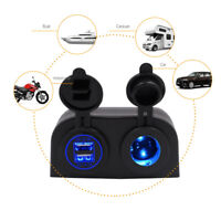 Dual USB Ports Car Boat Cigarette Lighter Socket Charger Power Outlet DC 12V