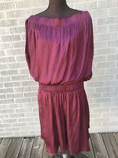 Halston Heritage Burgundy Dress Size L, NWT