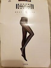 NWT WOLFORD LARA TIGHTS ARRAGON/BLACK Size S $65