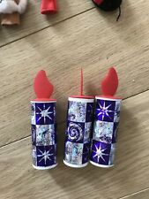 3 x Cardboard Candle Money Pot box decoration creative play purple red