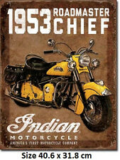 1953 Indian Roadmaster  Tin Sign 1932 Official Licensed Sign.