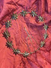 25cm Stellario 12 stelle a 8 punte statua Madonna metallo Bagno in argento