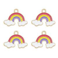 15pcs/Set Enamel Colorful 19x14mm Rainbow Cloud Pendant Charms DIY Accessories