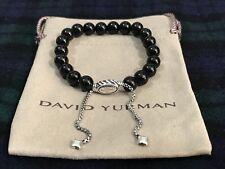 DAVID YURMAN Spiritual Bead Bracelet Sterling Silver with Black Onyx 8mm NWOT
