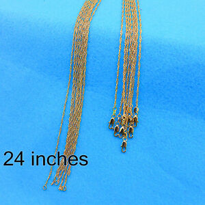 """Wholesale 24"""" 10PCS Fashion Jewelry 18K Gold Filled Water Wave Chain Necklace"""