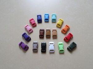 2x Steckschnalle Klickverschluß 10mm  farbig Paracord