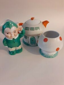 SUPERB EARLY SHELLEY MABEL LUCIE ATTWELL BOO BOO TEA SET CIRCA 1930
