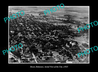OLD LARGE HISTORIC PHOTO DOVER DELAWARE, AERIAL VIEW OF TOWN c1925