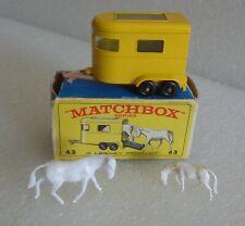 VINTAGE LESNEY MATCHBOX PONY HORSE TRAILER No.43 WITH BOX EXCELLENT