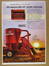 1973 Gehl MIX-ALL 95 Mill feed grinder farm equipment photo vintage print Ad