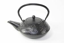 24 fl oz Black Dragon Japanese Cast Iron Teapot Tetsubin with Infuser Filter