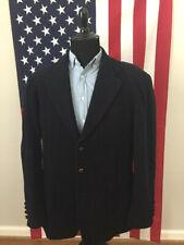vtg GANT Wool Cashmere Nylon Thick Navy Blue Coat men's LARGE Winter blazer 271