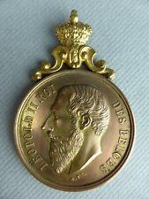 3- MEDAILLE COMMEMORATIVE LEOPOLD II ROI DES BELGES CONCOURS COUPE 1903 WALCOURT