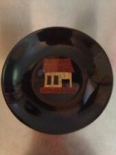 Rare Vintage Couroc Shack/House Bowl Inlaid Handset Monterey California Phenolic