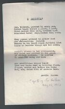 O Sapientia! by Austin Warren Hand-Typed Poem Gift of the Author 1952