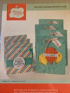 Stampin Up Paper Pumpkin Card Refill Kit Pockets Birthday Bundle