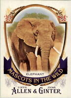 2016 Topps Allen and Ginter Mascots in the Wild #MIW8 Elephant - NM-MT