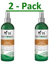 Vet's Best || Anti-Flea Easy Spray Shampoo for Dogs || 16oz Green (2 - Pack)
