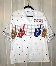 Unique MLB Cliff Engle LTD. Boston Red Sox S/s Button Front Shirt Men's Size L
