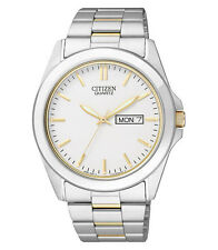 Citizen Mens Gold / Silver Tone Quartz Watch with Day & Date Function BF0584-56A
