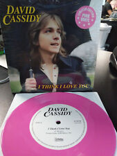 DAVID CASSIDY - I Think i Love You / I Woke Up in Love This Morning Pink 7 inch