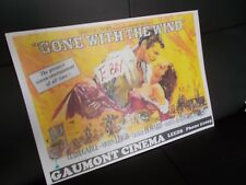 A3 SIZE FILM POSTER  ' GONE WITH THE WIND' GAUMONT CINEMA  LEEDS