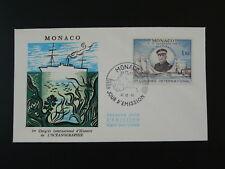 sailing ship oceanography polar explorer FDC Monaco ref 73660
