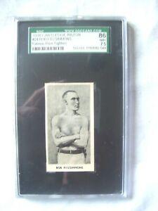 'SGC' 7.5 NM+ 1938 #24 BOB FITZSIMMONS CARTLEDGE RAZOR BOXING CARD