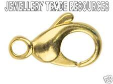 9ct or jaune mousqueton trigger bijoux fermoir 11mm bracelet ou collier