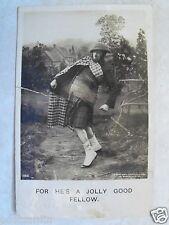 "RPPC ""For He's the Jolly Good Fellow"" Bamforth Photo Real Photo JAN1908 Postcard"