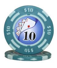 50pcs 14g Yin Yang Casino Table Clay Poker Chips $10