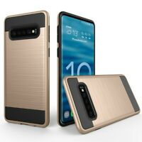 Best case For Samsung Galaxy S10 Brushed Armor Rubber Hard Phone Cover.