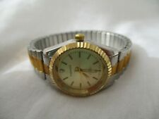 Lindenwold Diamond Gold & Silver Toned Wristwatch w/ Metal Expansion Band