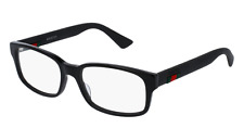 *NEW AUTHENTIC* GUCCI 0012O 001 BLACK EYEGLASS FRAME SIZE 54mm