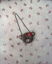 Blythe Doll Bag - Hand Crocheted Teddy Bear Bag/purse For Blythe Doll