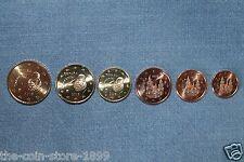 1 + 2 + 5 + 10 + 20 + 50 Euro Cent Kursmünze 2015 Spanien UNC SELTEN und RAR!