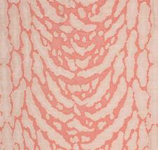 Coral Cheetah Animal Print jaguar Jungle Tribal Fabric Upholstery Drapery PV3