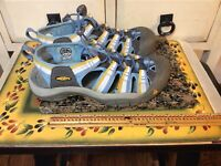 KEEN Waterproof Women's Hiking Sport Sandals Shoes Blue/ Yellow Sz 37.5/ US/ 7