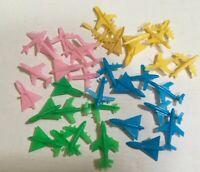 46 NOS Vintage Plastic Mini Planes 1960's MPC PINK YELLOW BLUE GREEN Favors