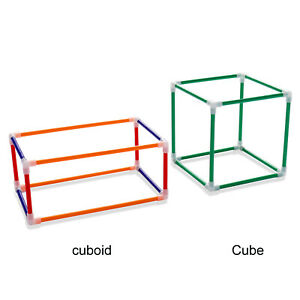 Math Helper Geometric Shapes Geometry Cube Cuboid Learning for Student Education