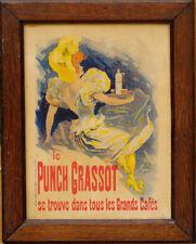 Affichette originale Les Maitres de L'Affiche Chéret Le Punch Grassot fin 19ème