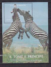 Sao Tome and Principe : Equus Zebra (1992) Minisheet  MNH