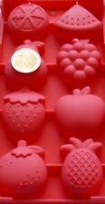 Eiswürfelbereiter Eiswürfelform Früchte  Silikonform Früchtemix Apfel Beere 8tlg